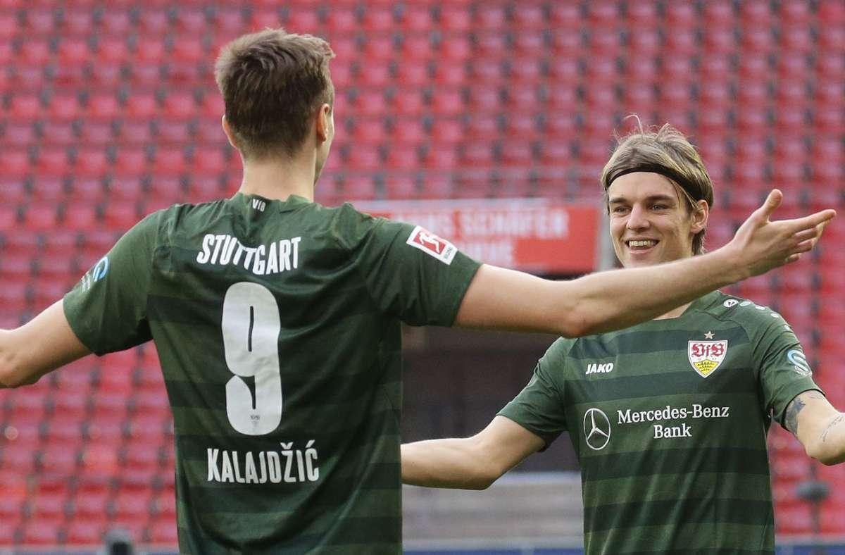 Sasa Kalajdzic und Borna Sosa konnten ihren Marktwert deutlich steigern. Foto: Pressefoto Baumann/Hansjürgen Britsch