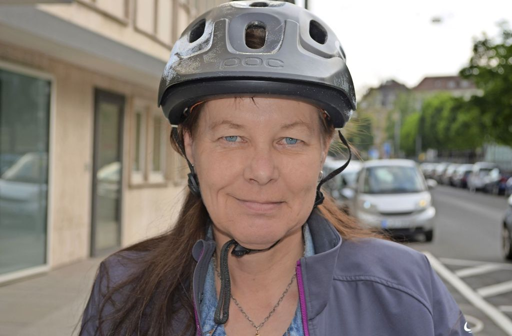 """Christine Lehmann schreibt den Blog """"Radfahren in Stuttgart"""" Foto: Rau"""