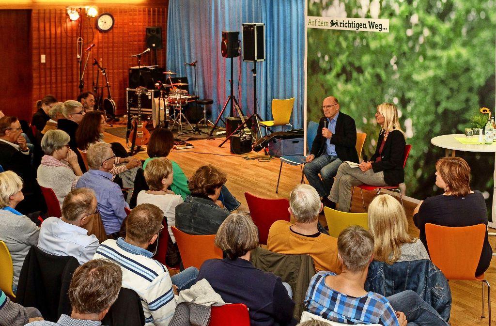 Der Verkehrsminister und die Kandidatin: Lange Zeit spielten sich die beiden Grünen-Politiker Winfried Hermann und Ingrid Hönlinger die Bälle zu. Foto: factum/Bach