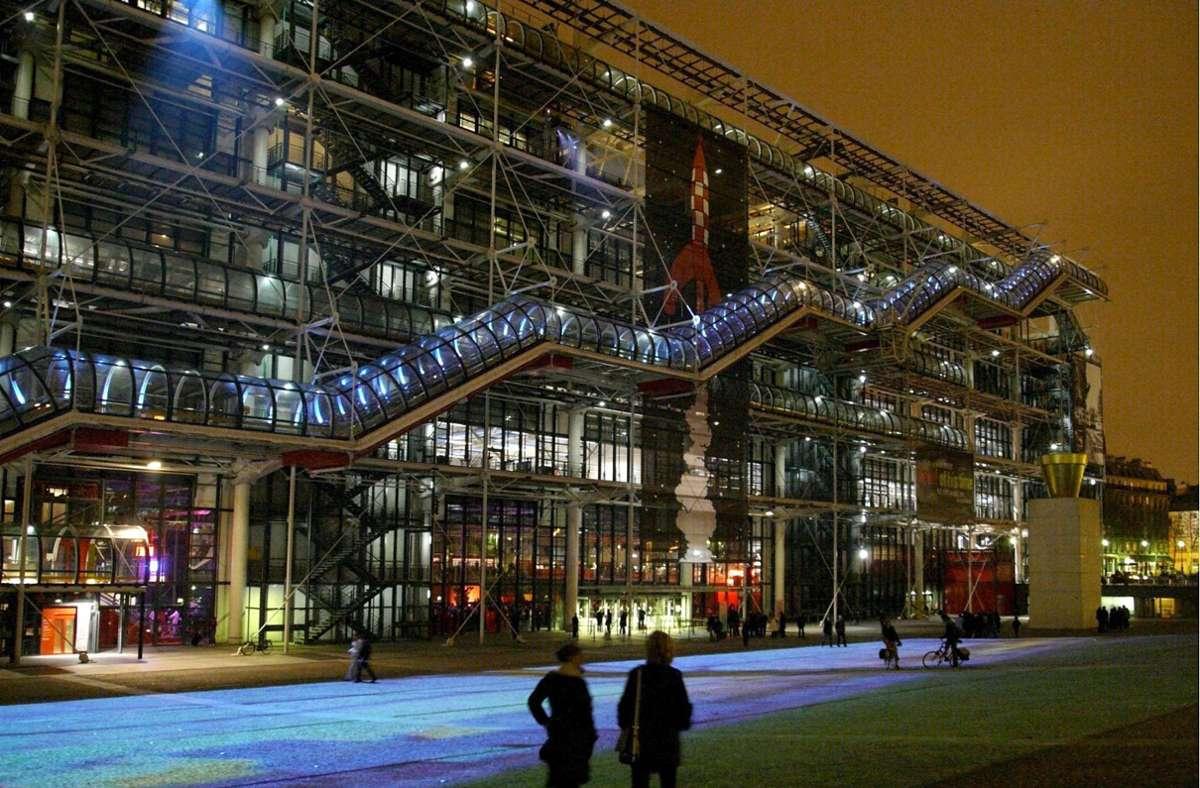Bald längere Zeit geschlossen: das Centre Pompidou in Paris Foto: dpa/Villalobos