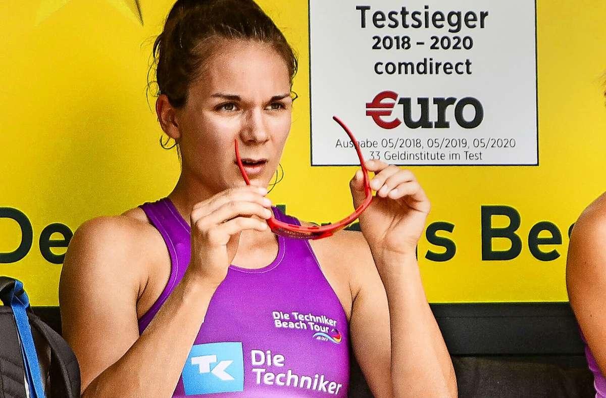 Anna-Lena Grüne, die am Stützpunkt in Stuttgart trainiert, gilt als eines der größten Talente im deutschen Beachvolleyball. Foto: imago//Kenny Beele