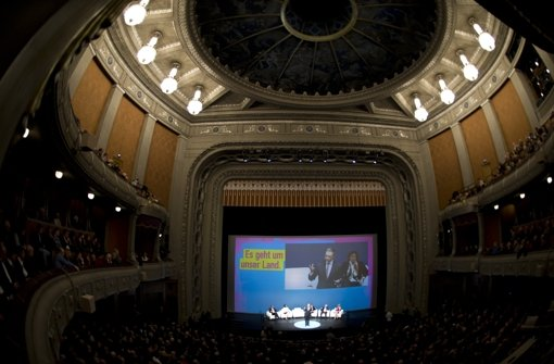 Für die Liberalen ein Ort glorreicher Tradition: wie im vergangenen Jahr (Foto) werden sie auch 2016 sie das Große Haus der Württembergischen Staatstheater füllen. Foto: dpa