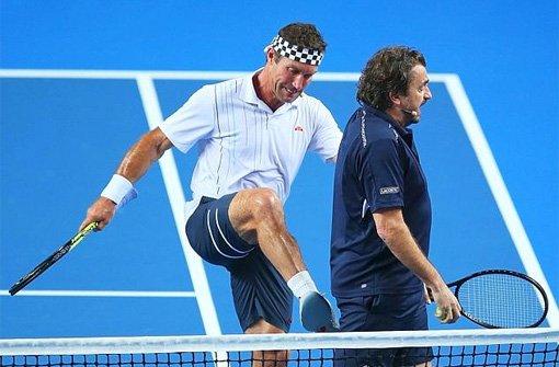 Tennis-Legende Henri Leconte gibt Gas