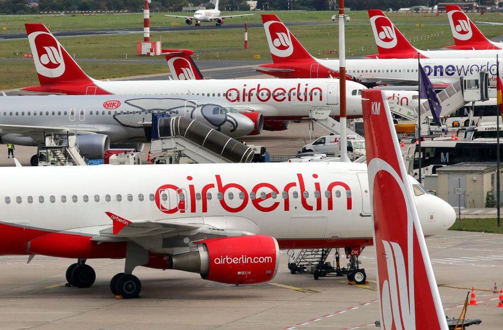 Wie geht es weiter mit den Beschäftigten bei Air Berlin? Foto: dpa