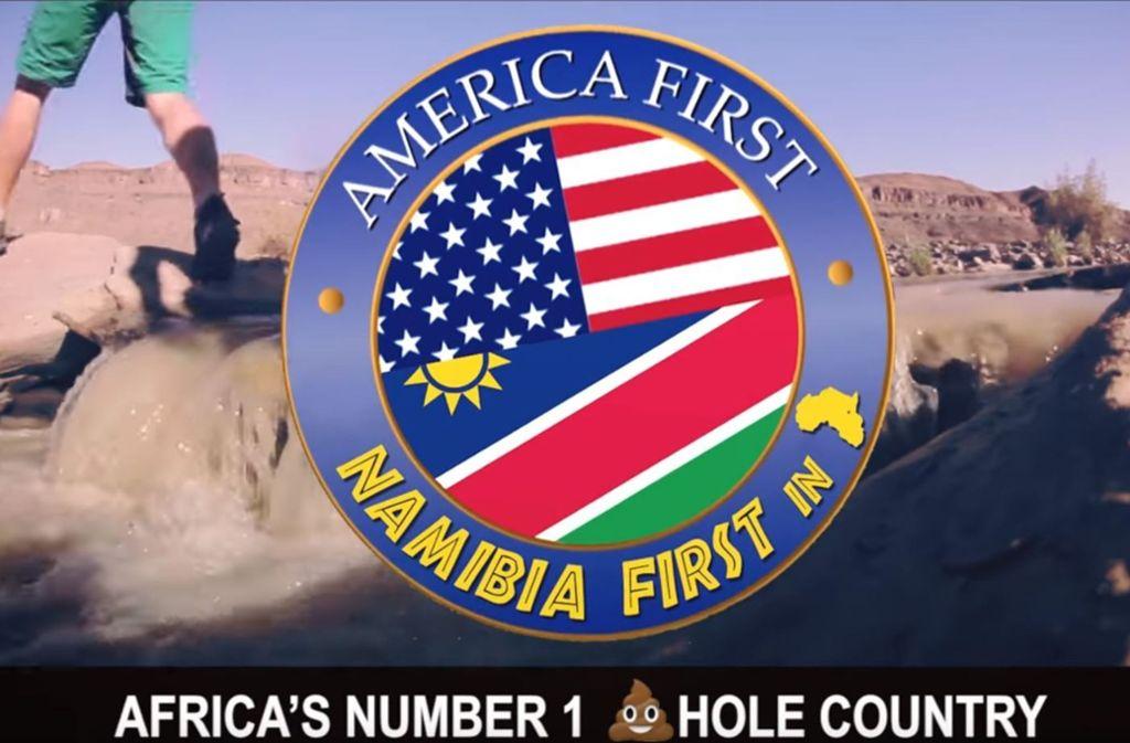 """Namibia bezeichnet sich ironisch als """"Afrikas Nummer eins Drecksloch"""". Foto: Screenshot/Youtube"""