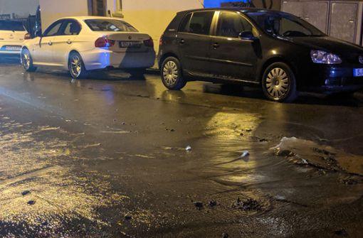 Schleichweg nach Wasserrohrbruch blockiert