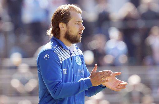 Trainer Tomasz Kaczmarek kann sich über einen Sieg seiner Mannschaft freuen. Foto: Pressefoto Baumann