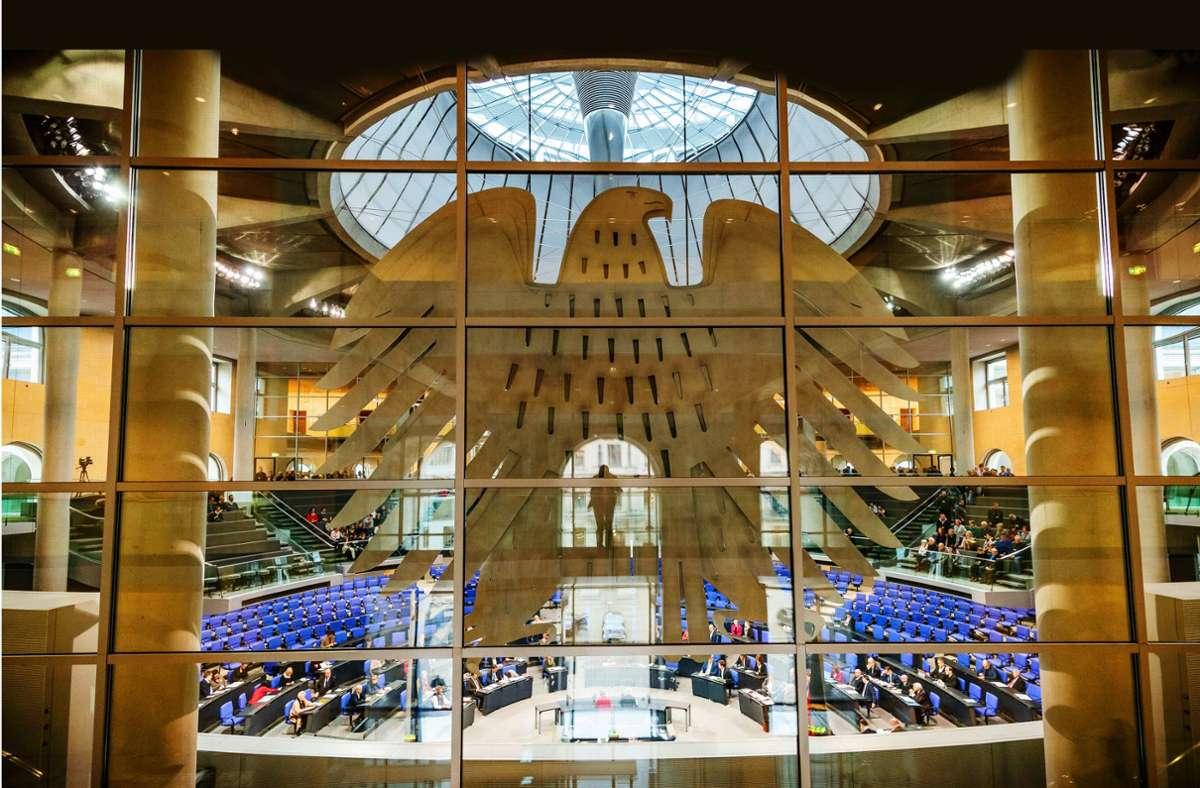 Der deutsche Bundestag. Foto: dpa/Michael Kappeler