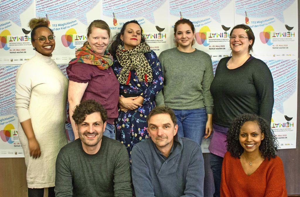 Das Organisationsteam der Wochen gegen Rassismus Foto: P.Landmann