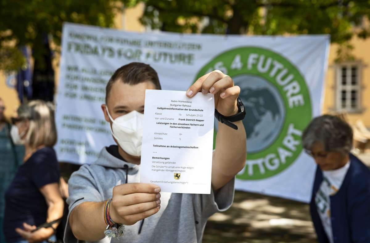 Fridays for Future gibt dem Stuttgarter OB schlechte Noten. Foto: Lichtgut/Julian Rettig