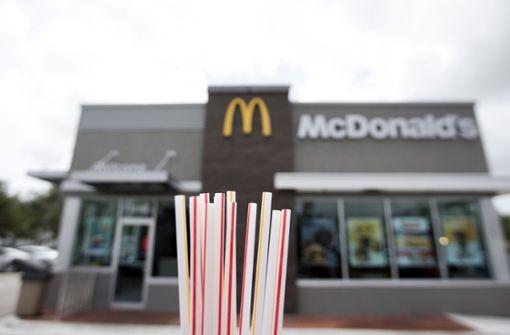 Künftig keine Plastiktrinkhalme mehr bei McDonald's