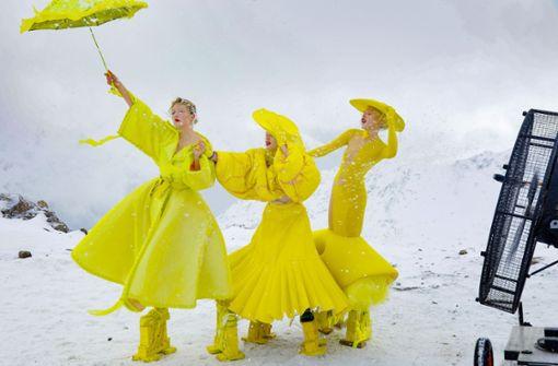 Heidi Klums Engel eisiger Kälte ausgesetzt