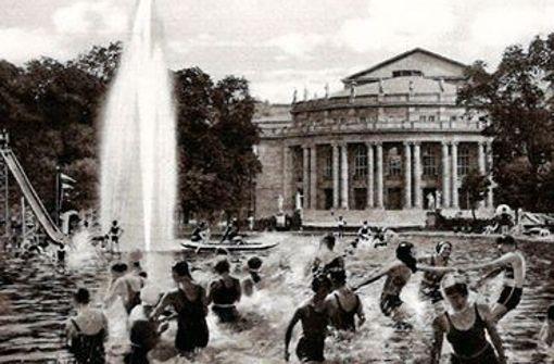 Ein Schwimmbad vor der Stuttgarter Oper?