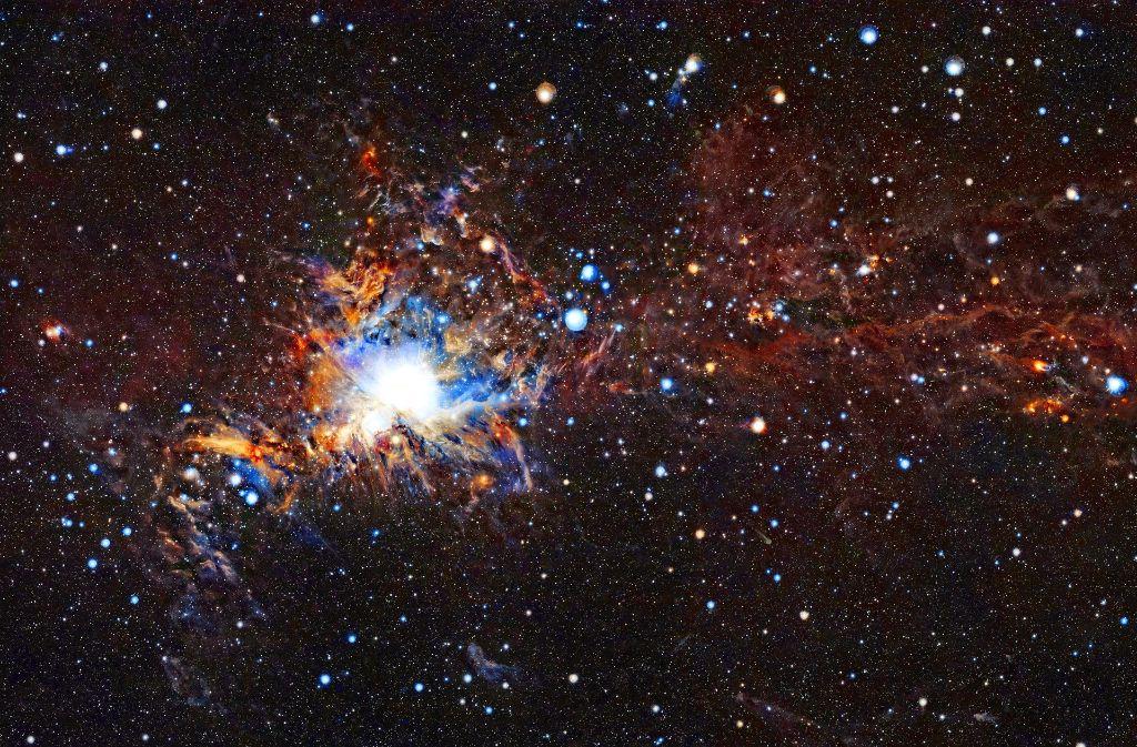Orion ist im Februar im Südwesten zu sehen Foto: ESO