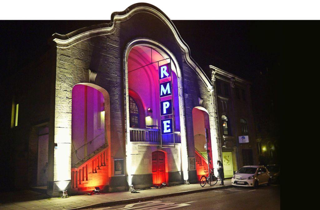 Zwar ein Buchstabe weniger, dafür viele zusätzliche Ideen: Der Eingang zum Theater Rampe in der Filderstraße Foto: Theater Rampe