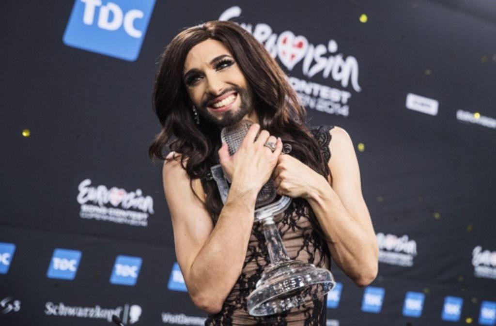 Dass Dragqueen Conchita Wurst den Eurovision Song Contest gewonnen hat, stößt einigen russischen Politikern sauer auf. Foto: dpa