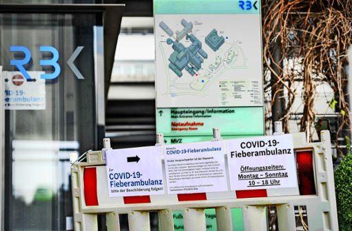 Covid-19-Stationen zur Aufnahme bereit