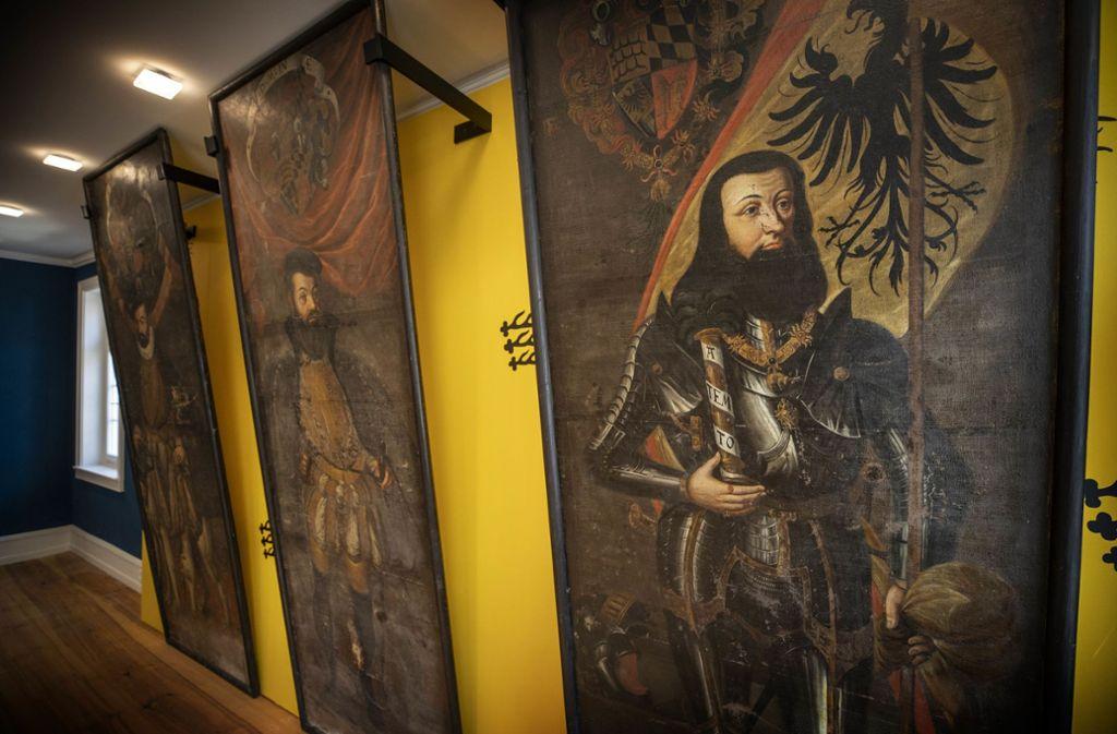 Wer die  Großheppacher Herzog-Porträts malen ließ, ist nicht bekannt. Foto: