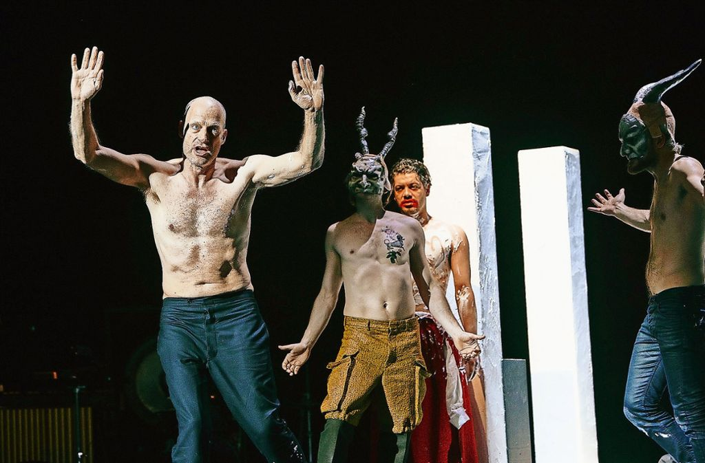 Joachim Meyerhoff (links) als  Wucherer Shylock Foto: Matthias Horn
