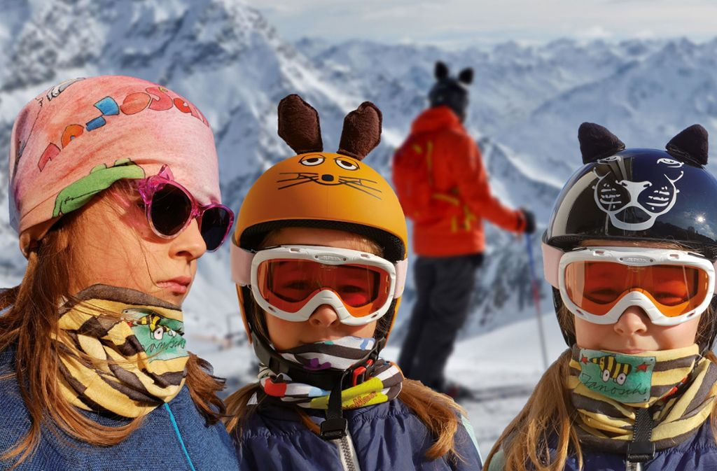 Das Konstanzer Start-up Gorfion hat die Lizenzen für Maus und Tigerente erworben, um die beliebten Kinderstars auf Skihelmen, Mützen und Schals abzubilden. Foto: Gorfion