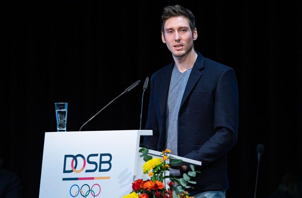 """Fechter Max Hartung ist Präsident der Vereinigung """"Athleten Deutschland"""". Foto: dpa/Jan Woitas"""
