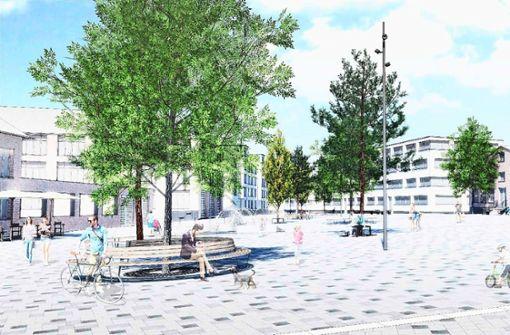 Neuer  Quartiersplatz beim Stadtarchiv