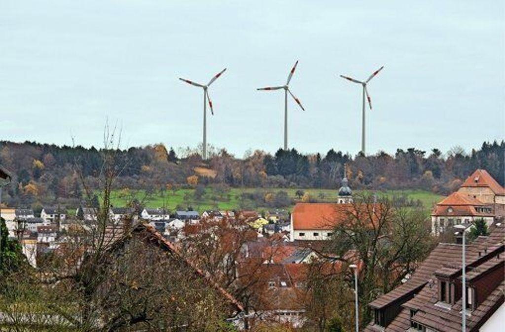 So könnten die Windräder von Heimsheim aus zu sehen sein. Sie sind in Planung. Foto: Dennis Roth