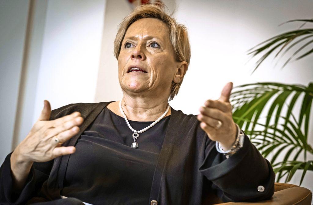 Susanne Eisenmann geht die Kultuspolitik pragmatisch an. Foto: Lichtgut/Achim Zweygarth