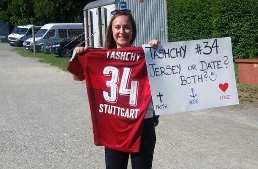 24-Jährige ergattert Trikot von Borys Tashchy