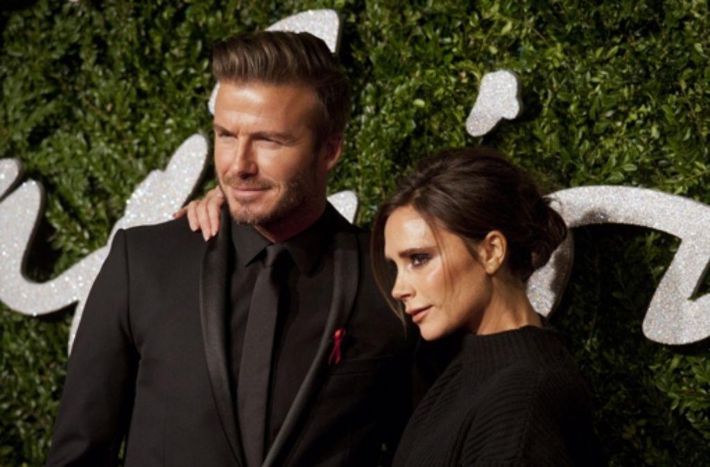 Beistand von David: In der Kategorie Marke des Jahres wurde bei den British Fashion Awards Victoria Beckham ausgezeichnet. Foto: dpa