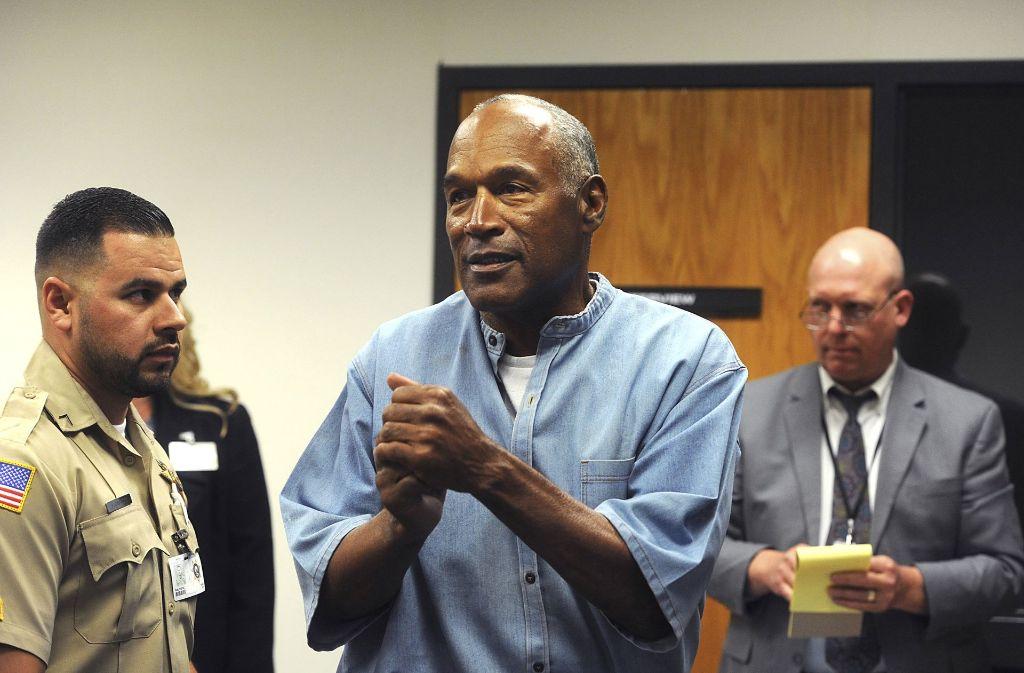 2008 war Simpson zu 33 Jahren Haft verurteilt worden. Nun kommt er nach neun Jahren auf Bewährung frei. Foto: AP