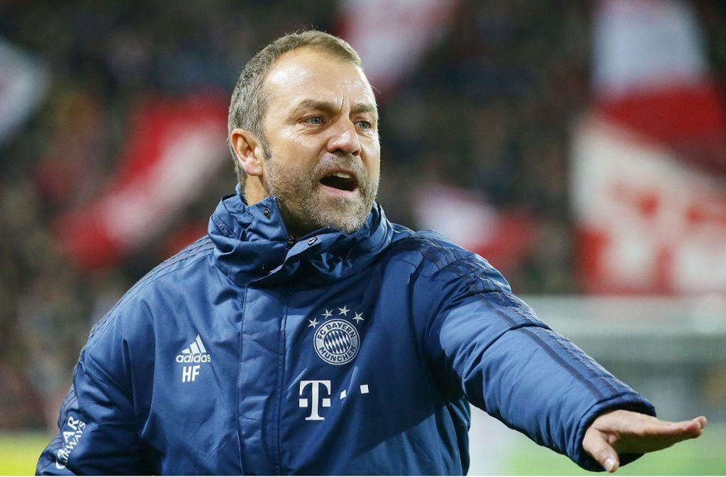 Erfolgreich im Interims-Job bei den Bayern: Trainer Hansi Flick Foto: Baumann