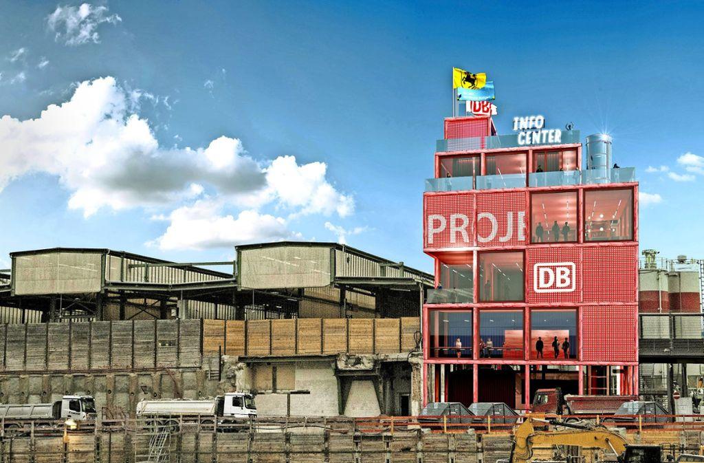So könnten die neuen Ausstellungsräume für Stuttgart21 aussehen. Foto: Heller Designstudio & Partner