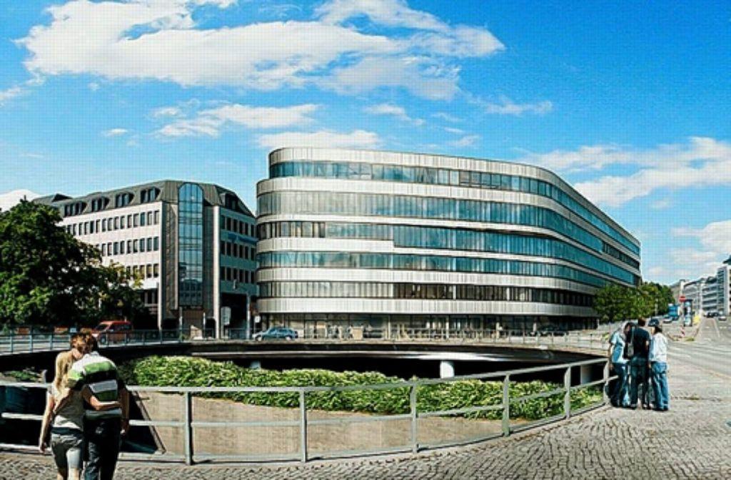 Der geplante Neubau am Österreichischen Platz. Foto: Hochtief