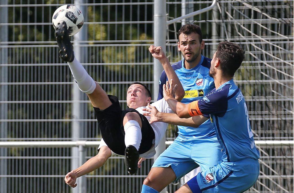 Noah Lulic wechselt vom SKV Rutesheim zu den Stuttgarter Kickers. Foto: Pressefoto Baumann