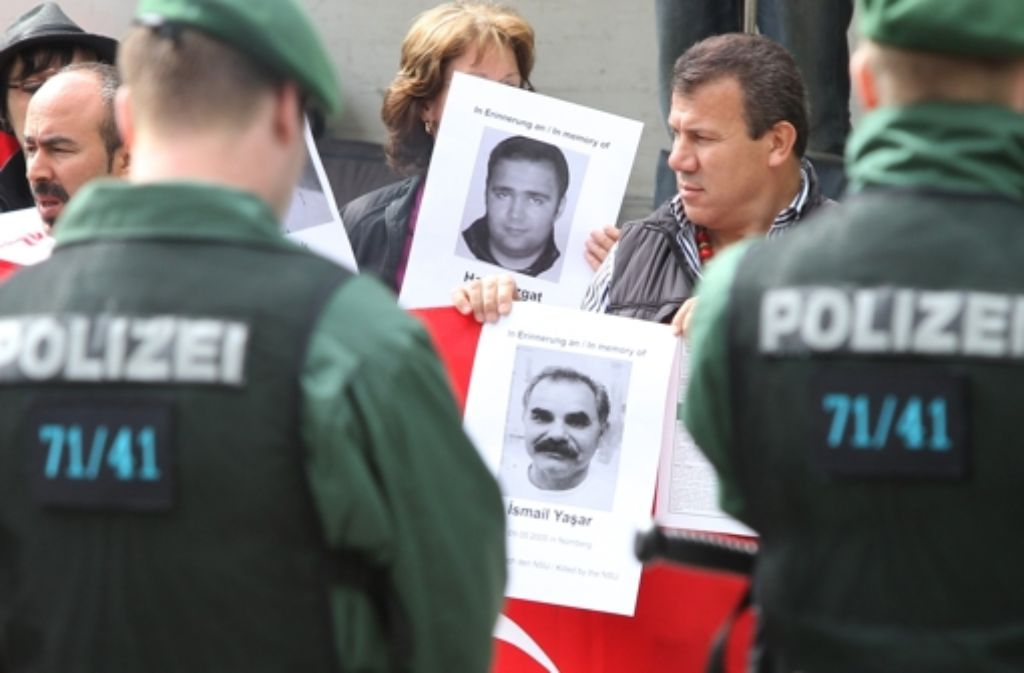 Vor dem NSU-Prozess in München: Gedenken an die Opfer rechter Gewalt Foto: dpa