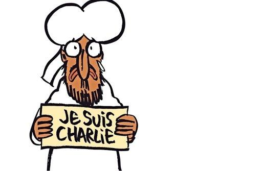 """Selbst der Prophet zeigt sich solidarisch – so gestalteten die Karikaturisten von """"Charlie Hebdo"""" das erste Cover nach dem Anschlag auf ihre Redaktion. Foto: AFP"""