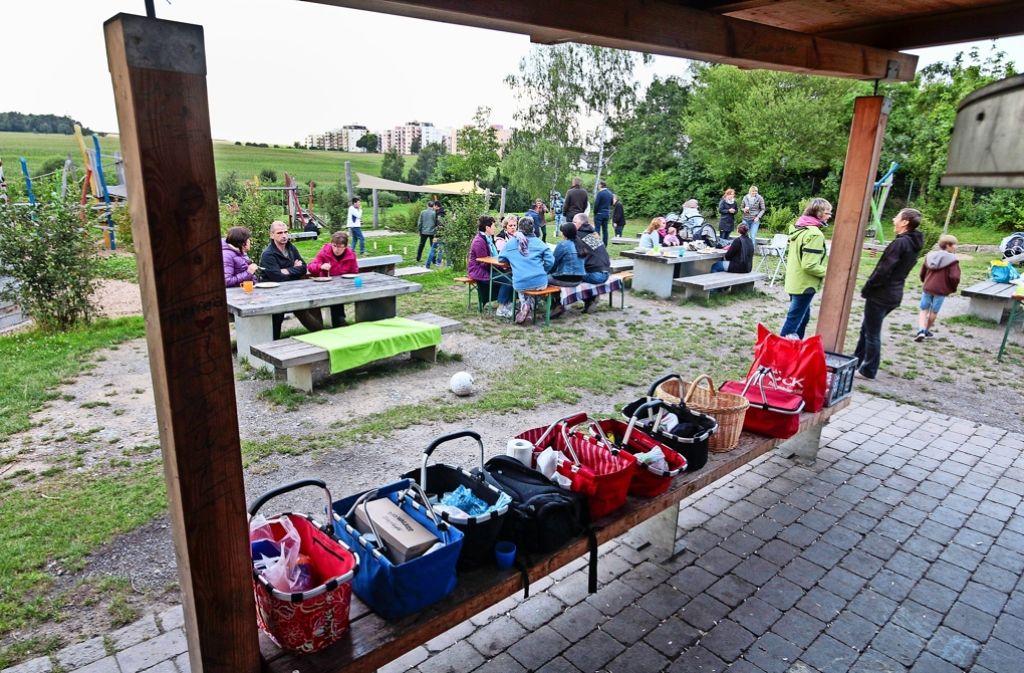 Bunt und voller Leben: der  Hemminger Familienfreizeitplatz wird gern genutzt, Foto: factum/Granville