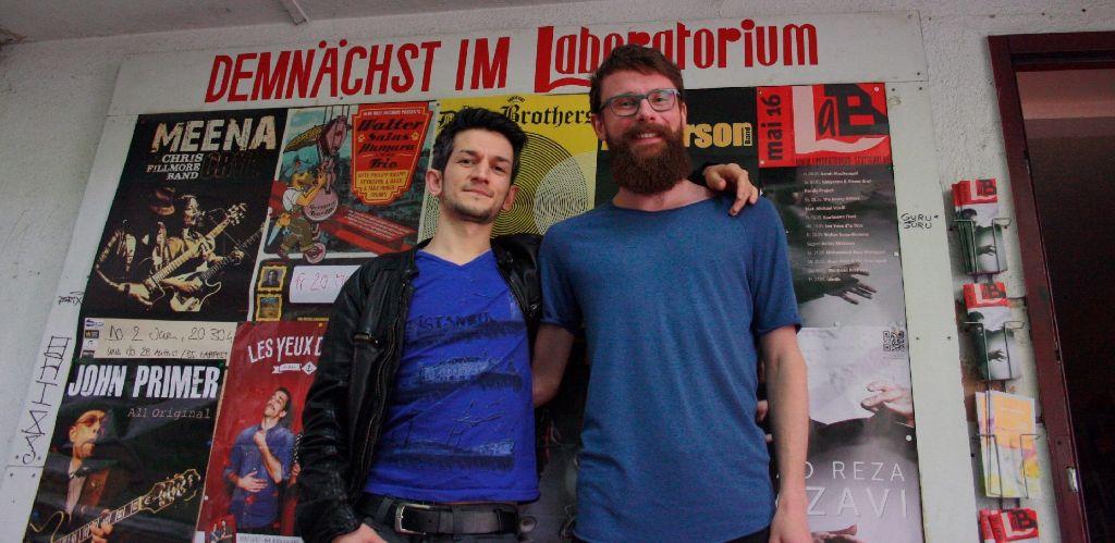 Im September wieder im Laboratorium: Mesut Ceylan und Sven Böckler mit ihrer Veranstaltung Lieberosten. Foto: Nadja Dilger