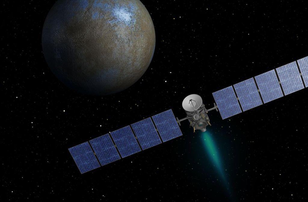 Immer mehr künstliche Himmelskörper wie hier die Raumsonde  Dawn sind mit einem Ionenantrieb ausgestattet. Foto: Nasa/JPL Foto: