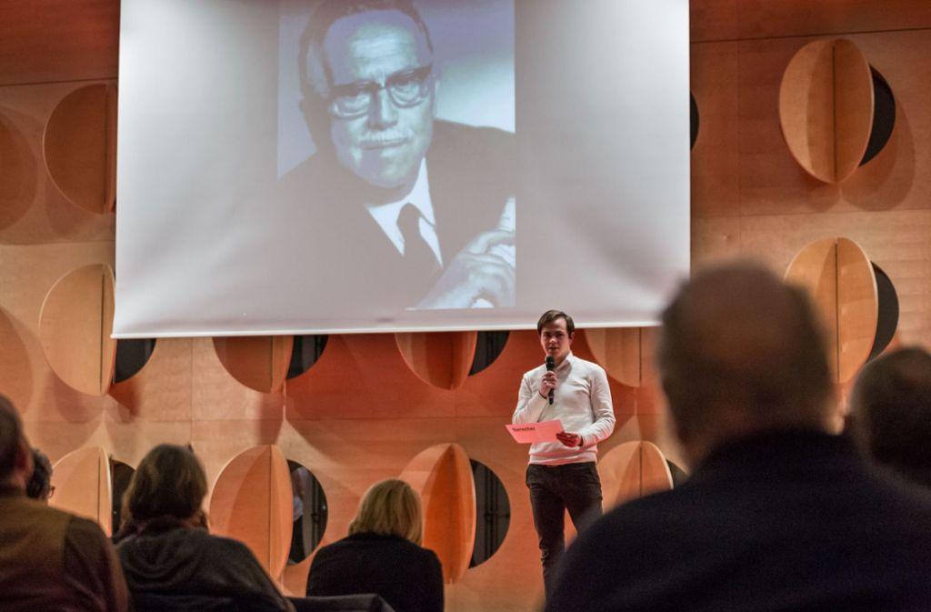 Erinnerung an Eugen Grimminger, der sein Leben im Widerstand gegen das NS-Regime riskierte. Foto: Lichtgut/Julian Rettig