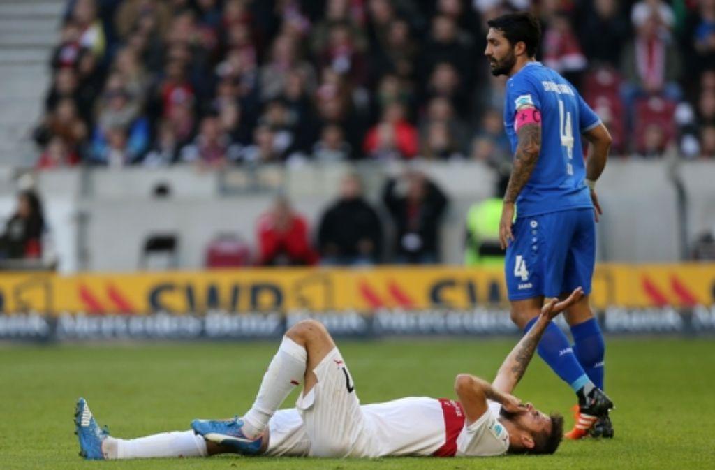 VfB-Stürmer Martin Harnik hat sich gegen Darmstadt am Knie verletzt. Foto: Baumann