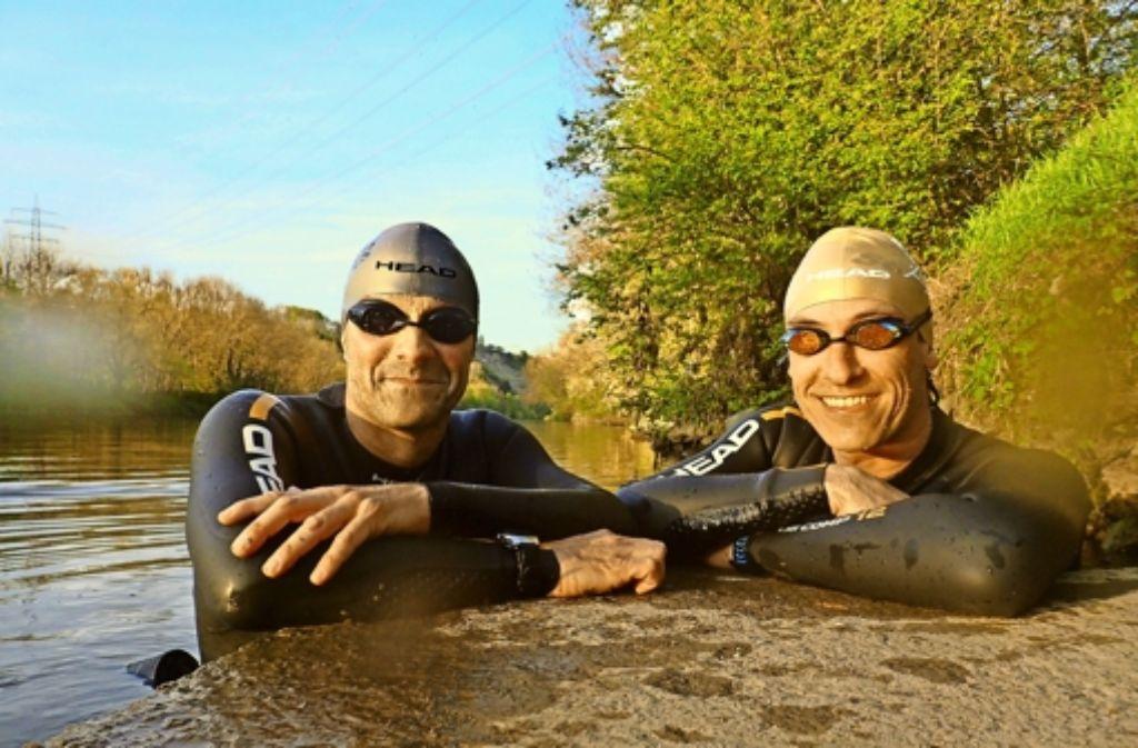 Extremschwimmer: Martin Tschepe (links) und Volker Heyn vom SV Ludwigsburg Foto: Oliver Halder