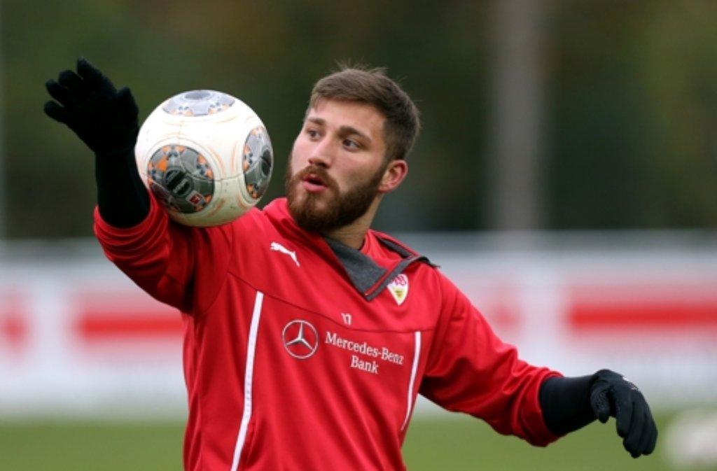 Tunay Torun zeigt seine Ballfertigkeit künftig in Istanbul. Den aktuellen Kader des VfB Stuttgart zeigen wir in der Fotostrecke. Foto: Baumann