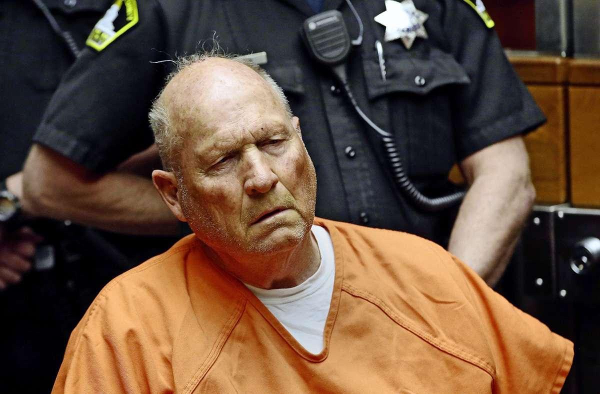 """Nach über 40 Jahren überführt und vor Gericht: der """"Golden State Killer"""", Joseph James DeAngelo, ein ehemaliger Polizist aus Kalifornien. Foto: picture alliance/dpa/Rich Pedroncelli"""
