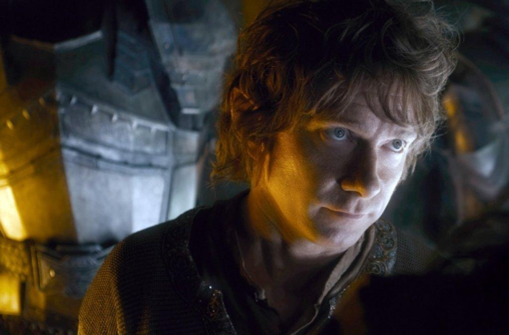 Das Warten hat eine Ende: Martin Freeman als Bilbo Beutlin in einer Szene des Films Der Hobbit: Die Schlacht der fünf Heere.  Foto: Warner Bros.