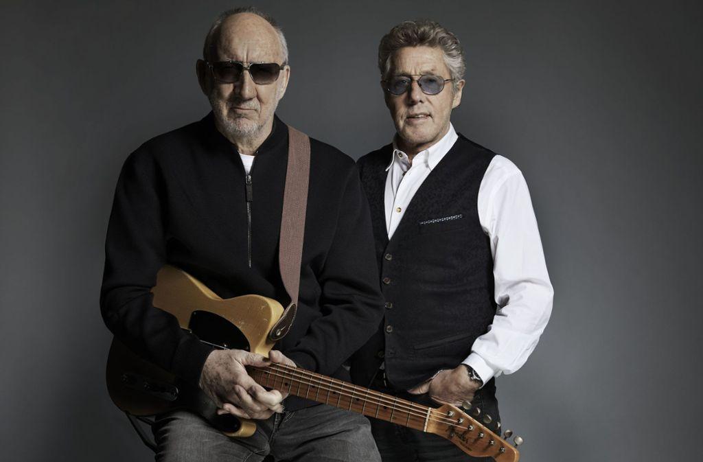 Zwei sind gegangen, zwei sind geblieben: die Rockveteranen Pete Townshend  und Roger Daltrey (rechts) Foto: