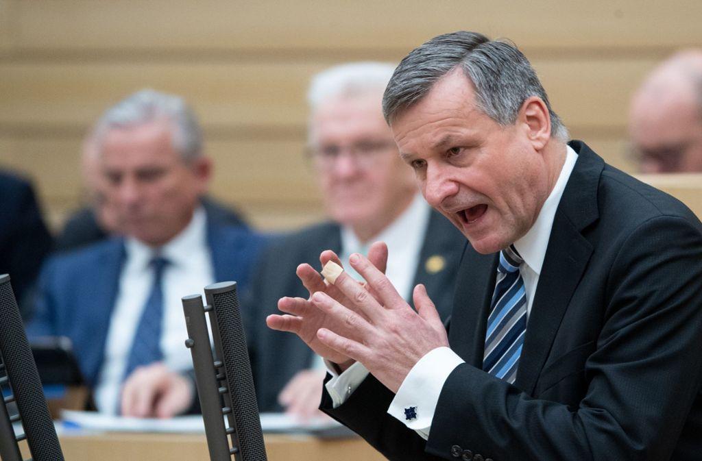 Der FDP-Fraktionschef Hans-Ulrich Rülke stellt erste Weichen für den Wahlkampf. Foto: dpa/Marijan Murat