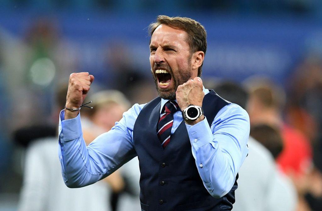 Im WM-Spiel gegen Tunesien konnte er noch jubeln: Englands Trainer Gareth Southgate. Foto: Getty Images Europe