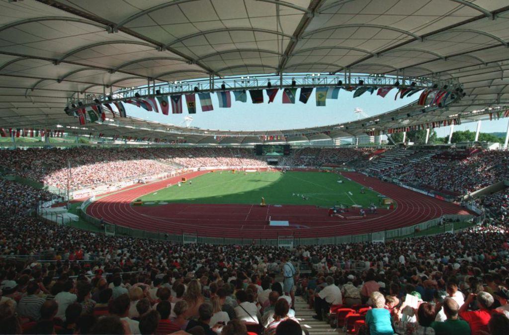 """Das Stuttgarter Stadion  – einst das """"Wimbledon der Leichtathletik"""". Foto: baumann"""